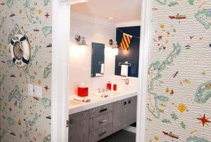 bath room walls paper navy ralph lauren 40+ ideas | boy
