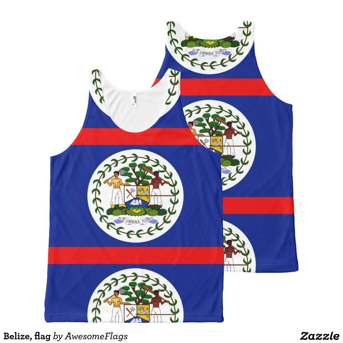 Belize, flag All-Over print tank top