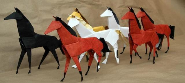 2014 The Year Of Horse Origami Horses Diy Ideas Pinterest