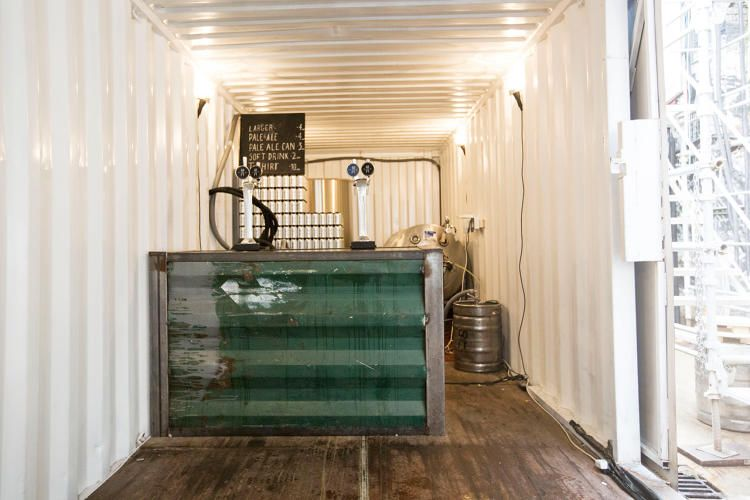 A Budget Brewery Built From Shipping Containers Tap Room Brewery Shipping Container