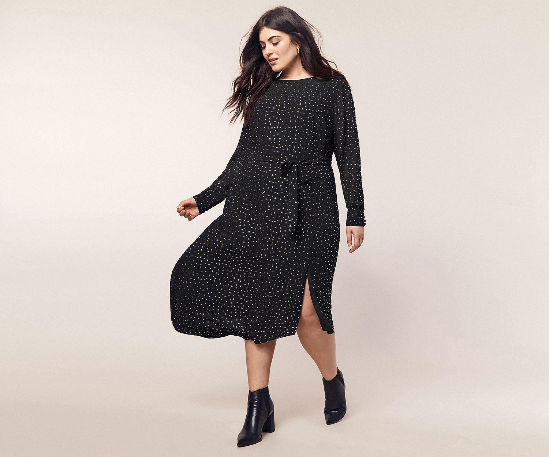 Curve Glitter Midi Dress Midi Dress Chic Midi Dress Classy Wear