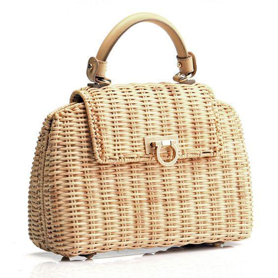 Sofia wicker purse: