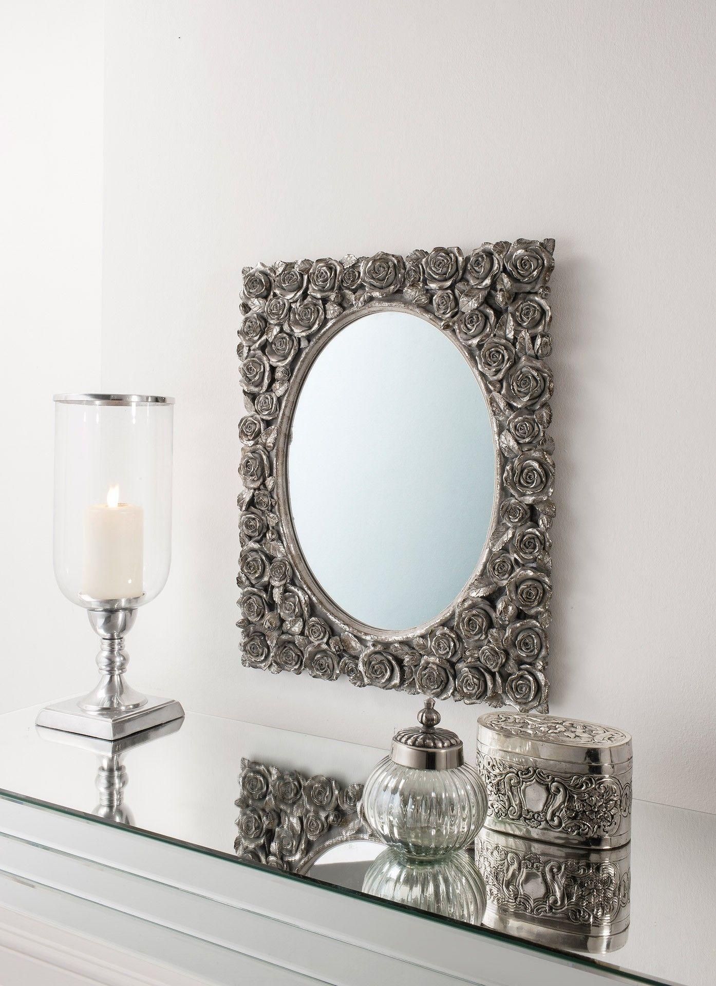 espejo vintage rosas cuadrado en mbar muebles