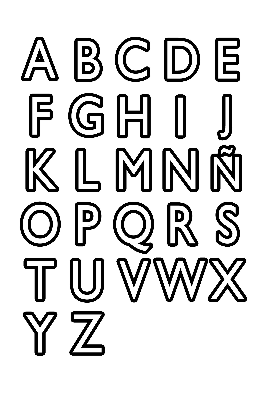 Dibujos de Letras del abecedario para colorear e imprimir gratis ...