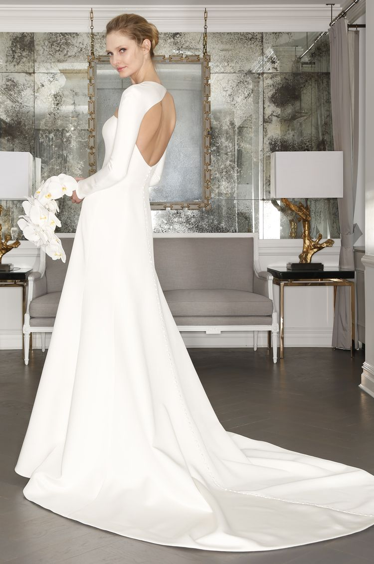 Simple modern wedding dress  Romona Keveza Luxe Bridal Style RK  Wedding Gowns With Sleeves