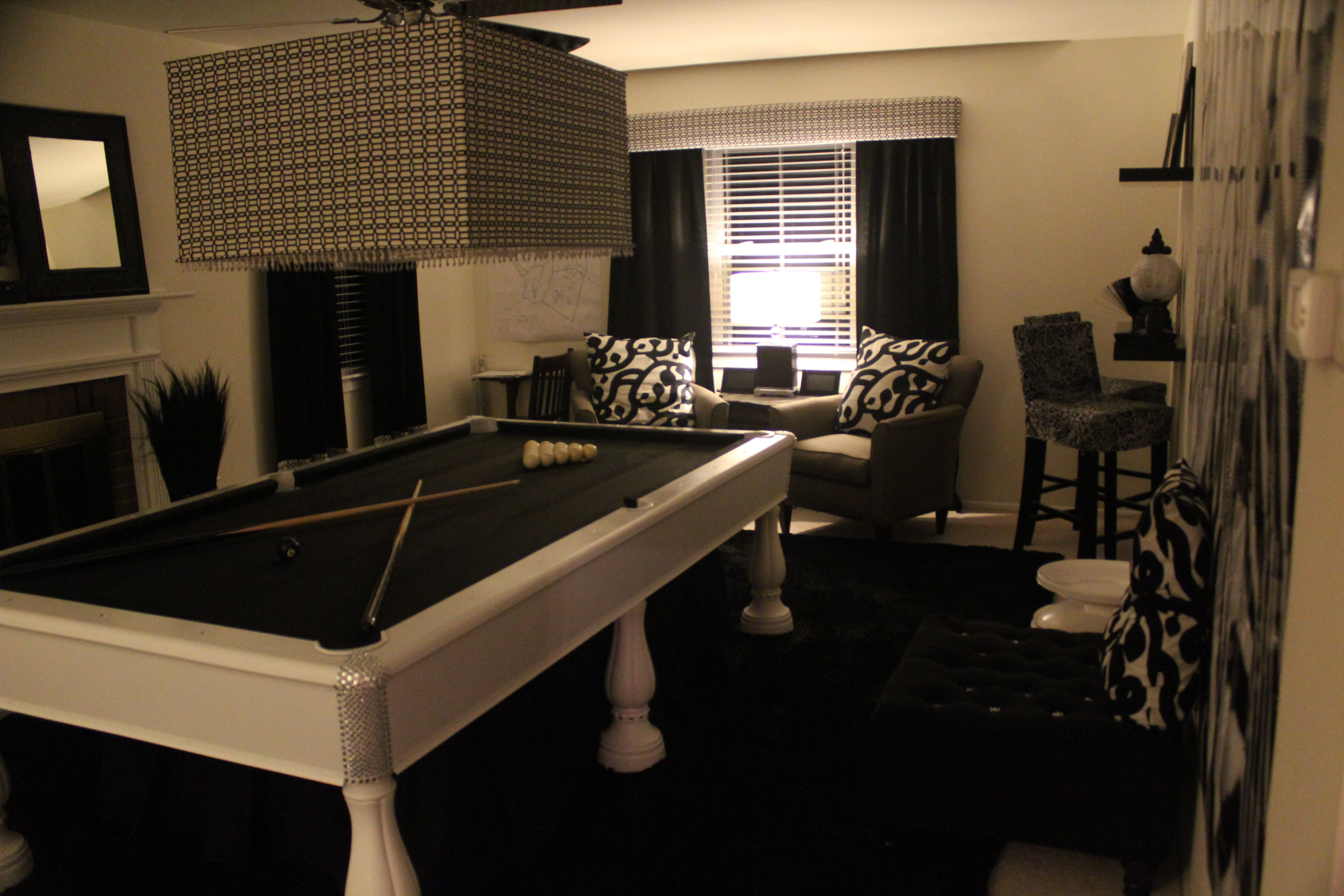 My Black White Game Room Sitting Room Game Room Decor Pool Table Room Small Game Rooms