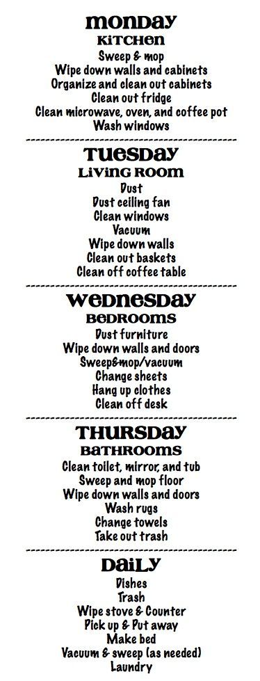 Quick Cleaning Tips Cleaning Schedule Weekly Cleaning Clean House