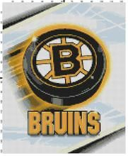 Boston Bruins Nhl Hockey Puck Counted Cross Stitch Pattern Boston Bruins Bruins Hockey Puck