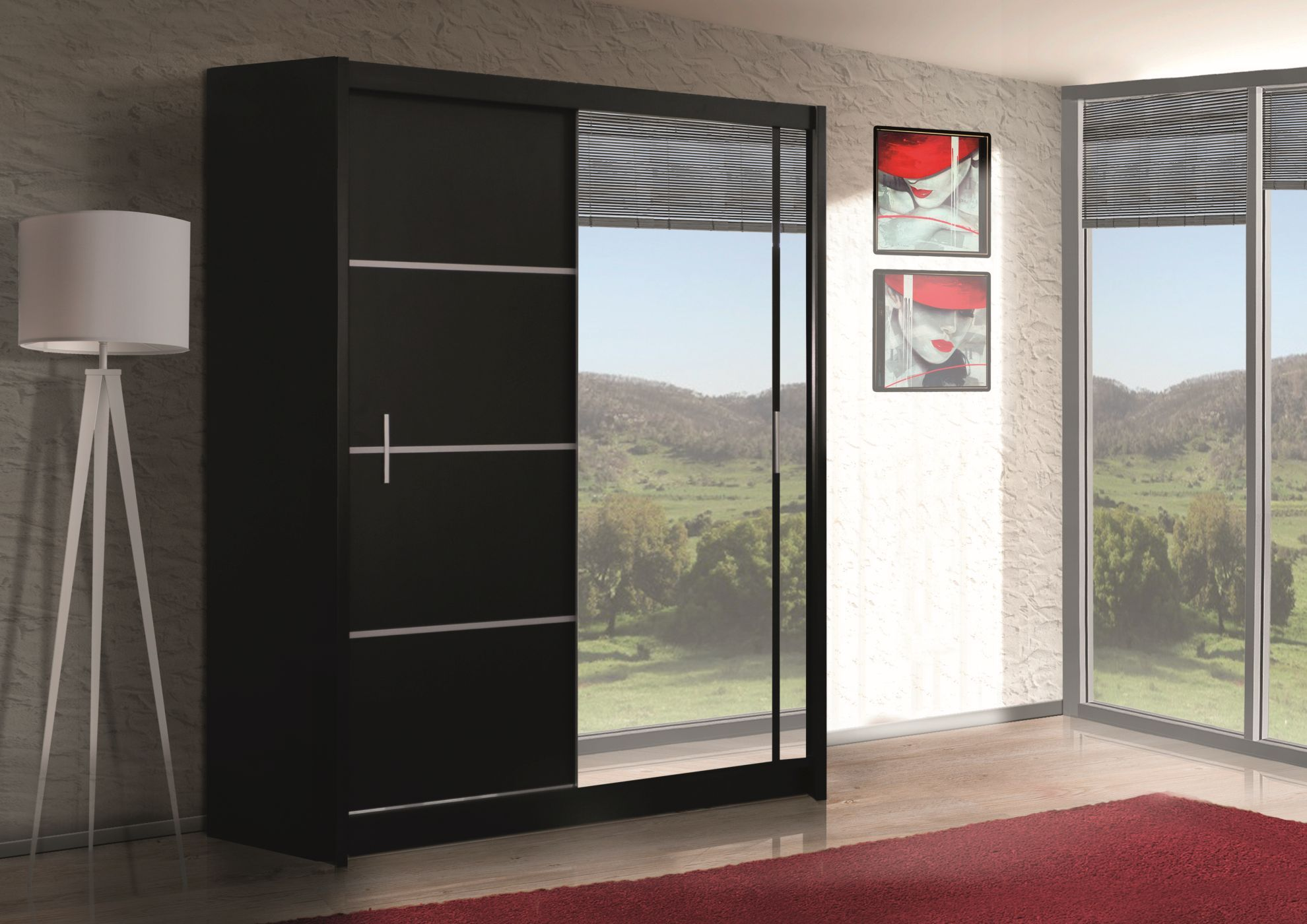 Hallway storage with sliding doors  Vezon   Retro  Pinterest  Hall console table Hall furniture
