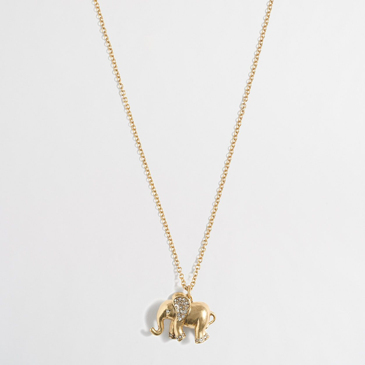 Golden elephant pendant necklace the cherry on top pinterest