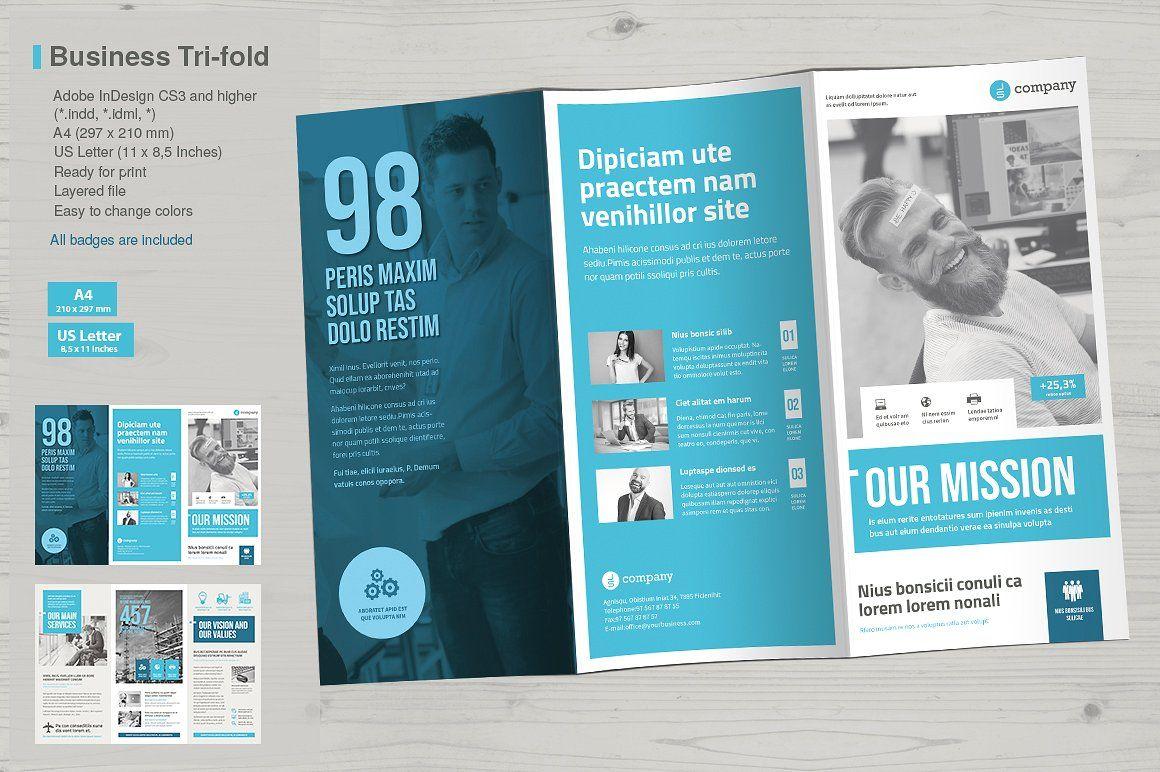 Business Tri Fold Vol 7 Brochure Design Template Trifold