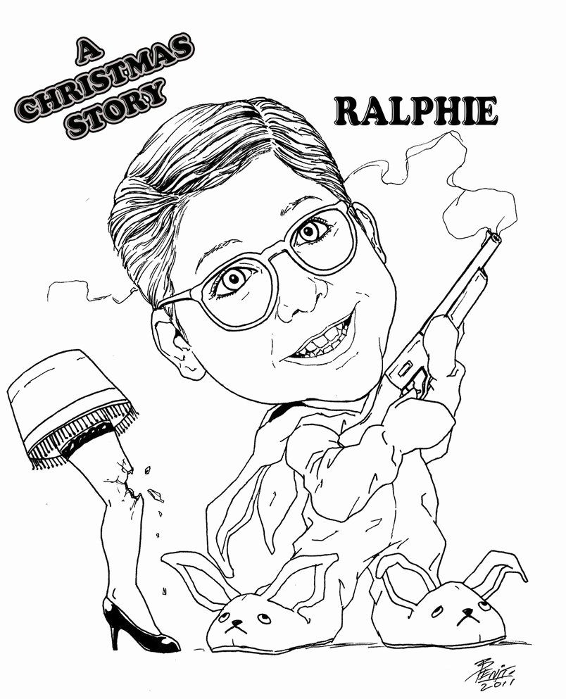 Christmas Story Coloring Book Lovely Ralphie Christmas Story By Benito4u On Deviantart In 2020 A Christmas Story Nativity Coloring Pages Coloring Books