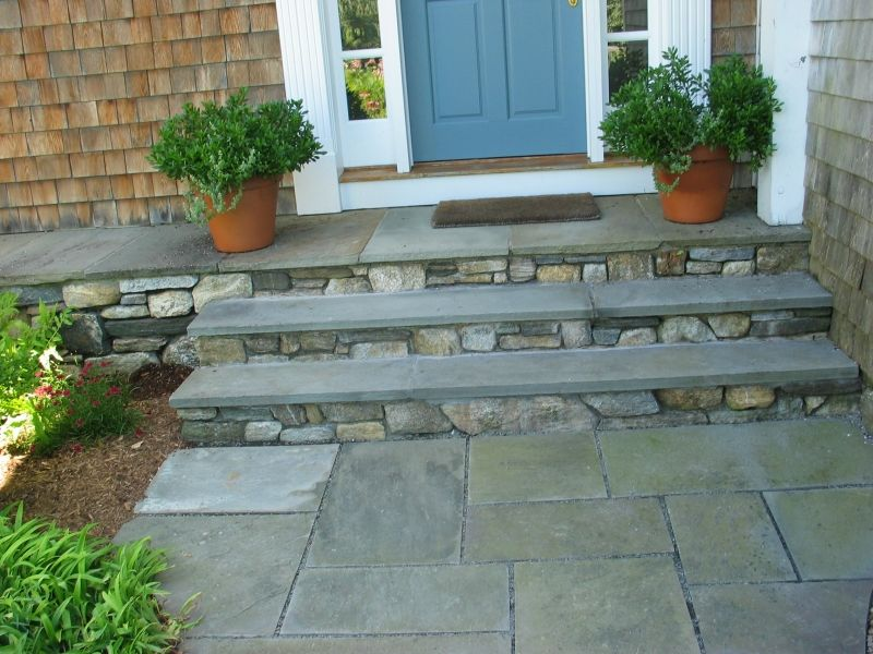 Patio Wood Steps Design Ideas | Patios, Pools ,Ponds And Steps » Front Step  Construction