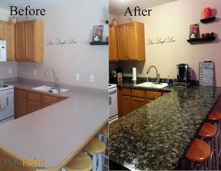 Painted Faux Granite   I Want To Do This On My Ugly Laminate Bathroom  Counters.