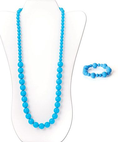 Love this Blue Ciclo Teething Necklace & Bolla Bracelet Set on #zulily! #zulilyfinds