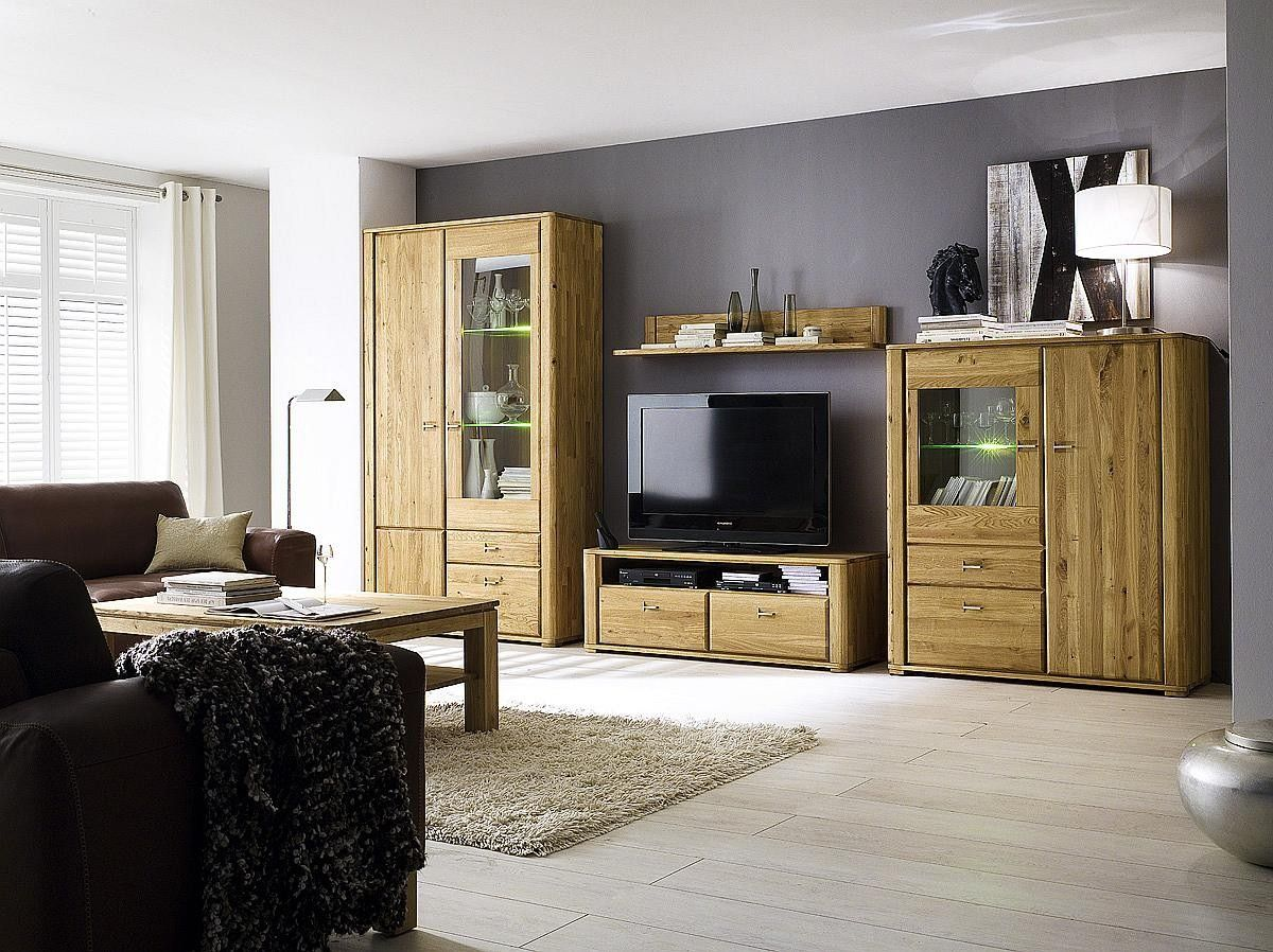 Wohnzimmerwand Massiv ~ Nett wohnwand wildeiche massiv deutsche deko pinterest