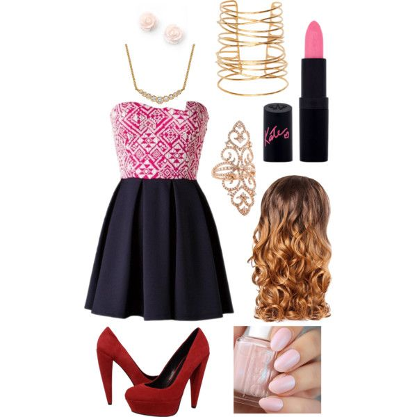 Untitled #6 by holypolyy on Polyvore featuring polyvore, fashion, style, Dolce Vita, EC One, Rebecca Taylor, Rimmel and Lipsy