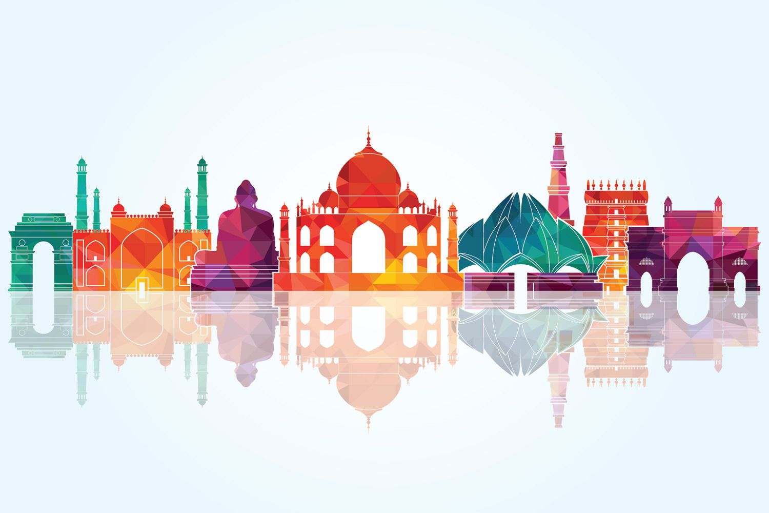 choose india vector wallpaper to create fantastic wall decor in your