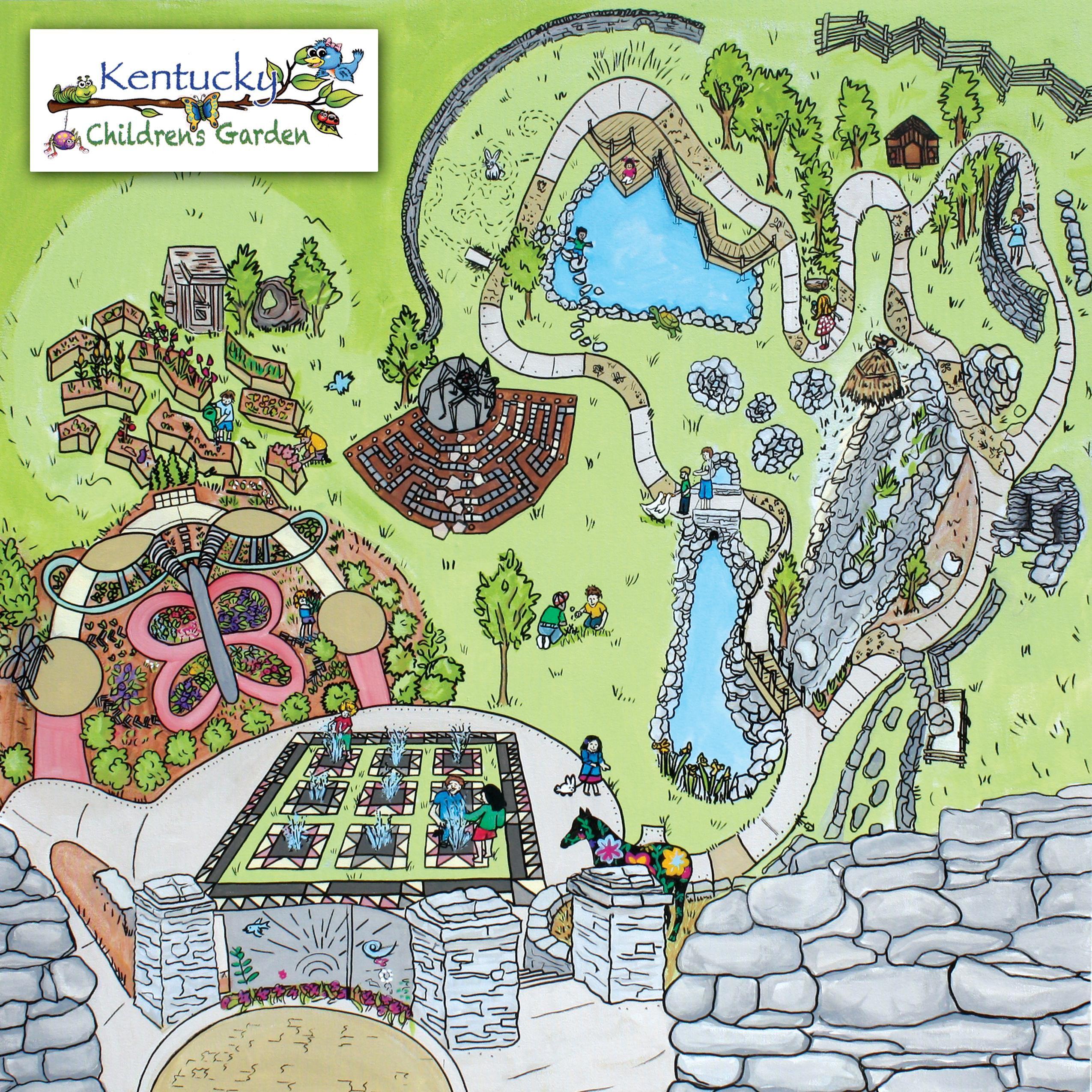 Arboretum Alumni Drive In Lexington Childrens Garden Map