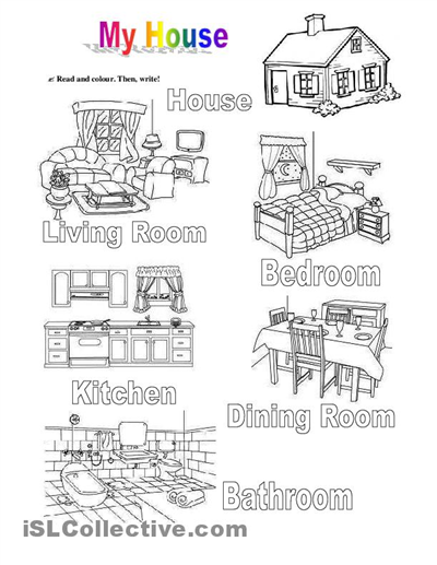 house worksheets - Buscar con Google   activities   Pinterest ...