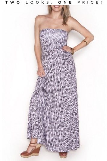 How could you pass up a two for one deal!? This maxi works as a maxi dress or as a maxi skirt for ample styling! $178 #bevello