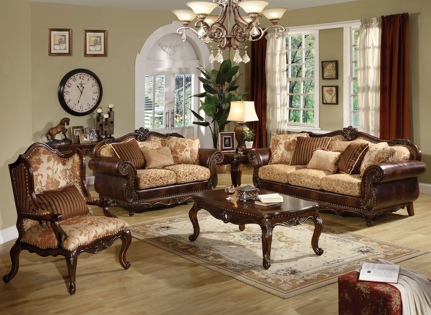 Wooden Living Room Chair Blue Green With Brown Leather Furniture Sofa Sets Living Room
