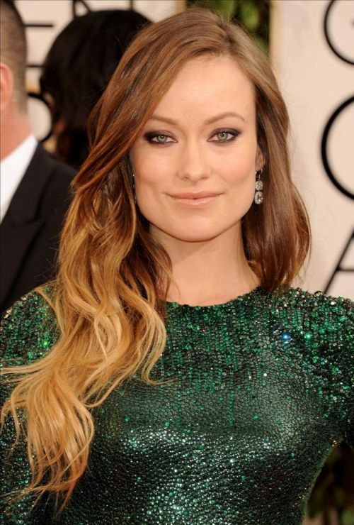 Olivia Wilde In 2019 Long Ombre Hair Hair Color Caramel Long