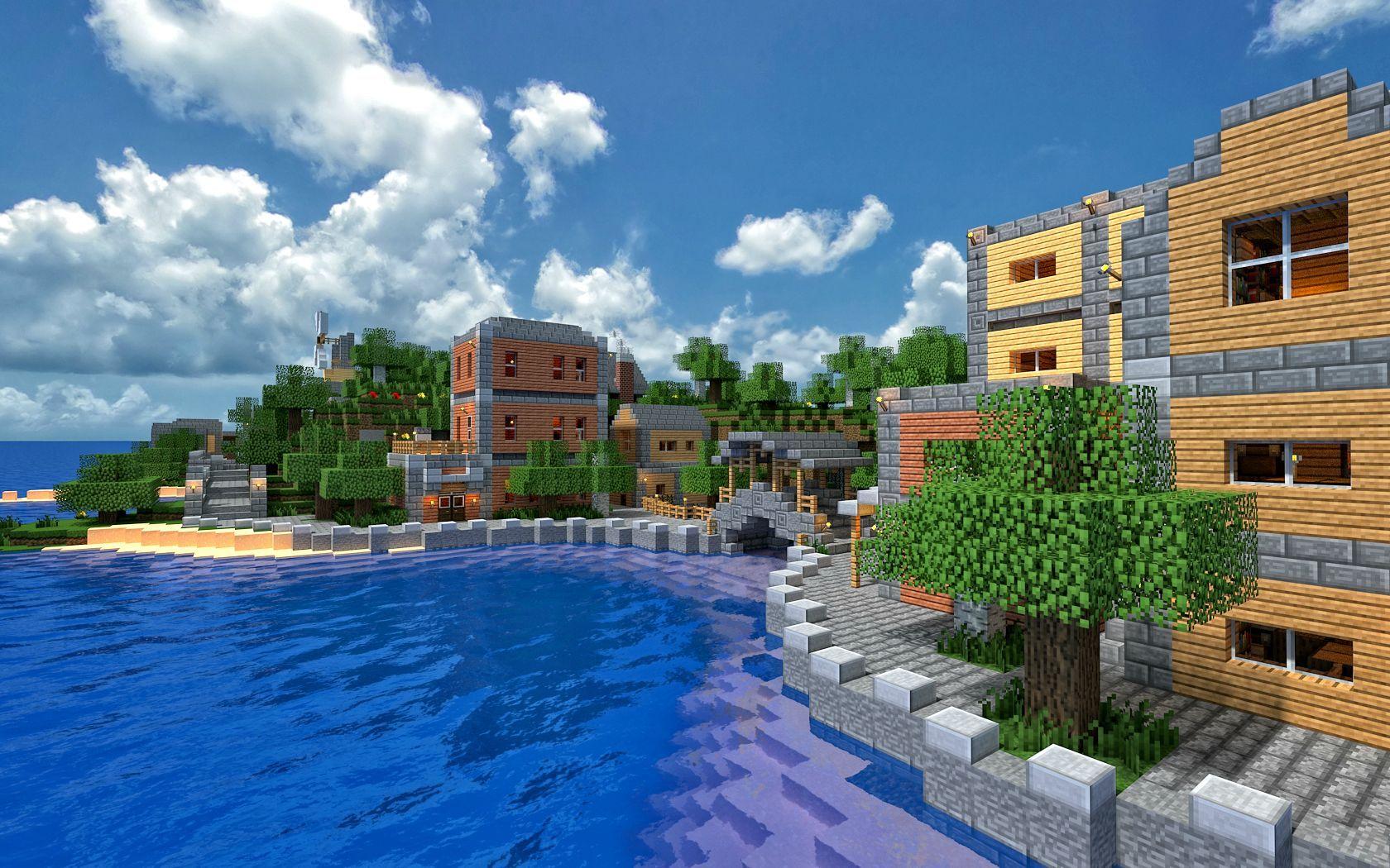 Minecraft City Waterfront