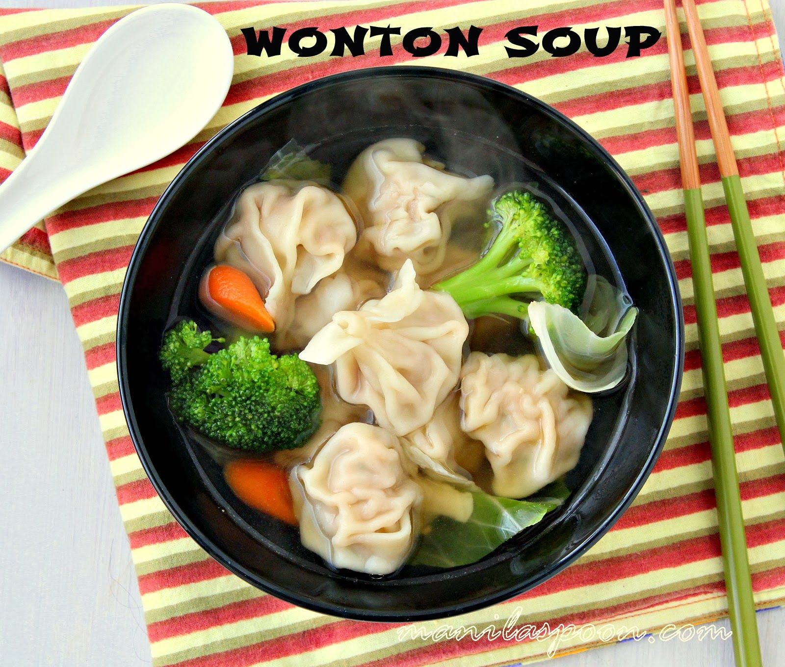 My Asia Küche Manila Spoon Wonton Soup Suppen Pinterest