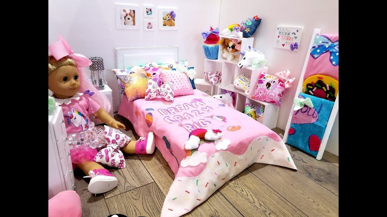 JOJO SIWA~AMERICAN GIRL DOLL BEDROOM SET UP (NEW ROOM TOUR ...