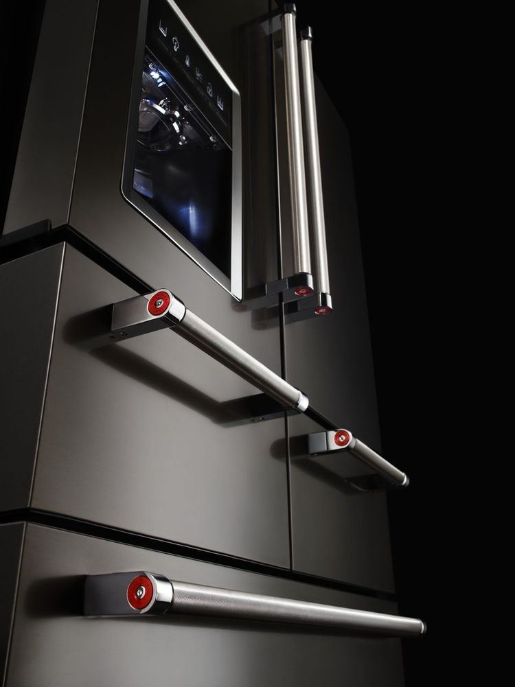KitchenAid Black Stainless Steel Refrigerator