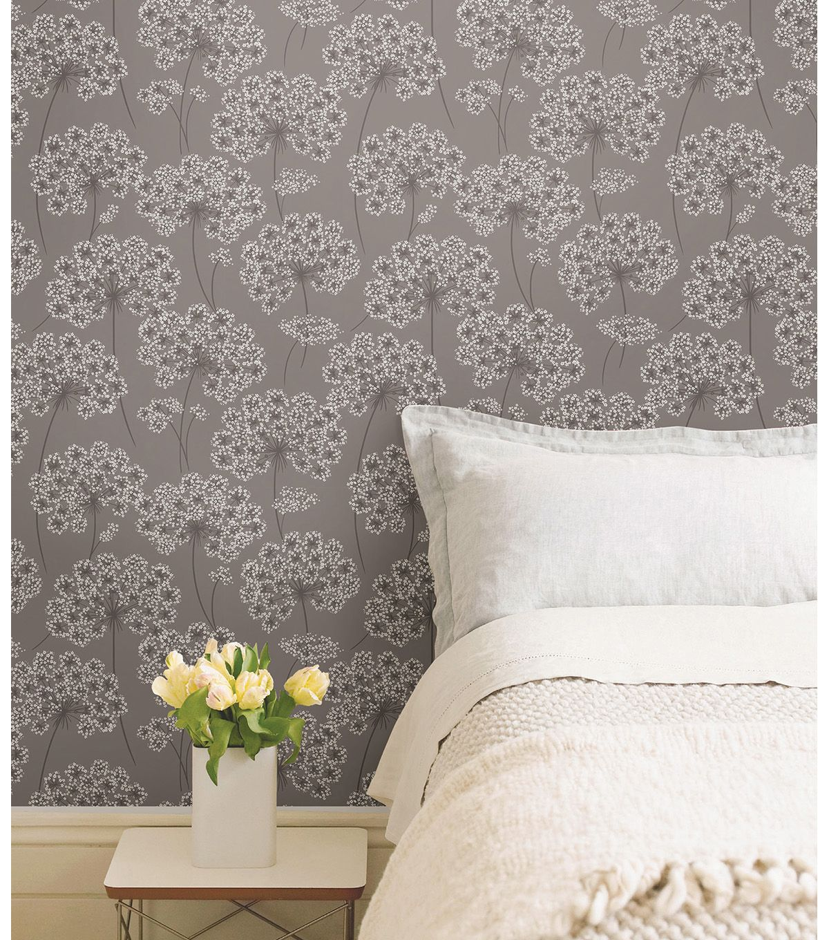 I Want This For A Wall In My Bedroom Wallpops Nuwallpaper Grey Angelica Peel Stick Wallpapernull Peel And Stick Wallpaper Grey Wallpaper Home Decor