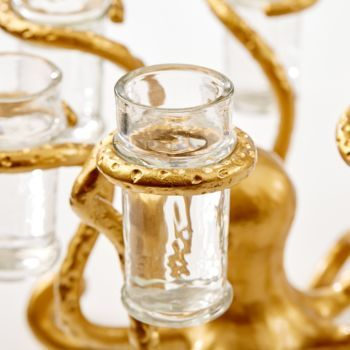 Gold Octopus Shot Glass Holder