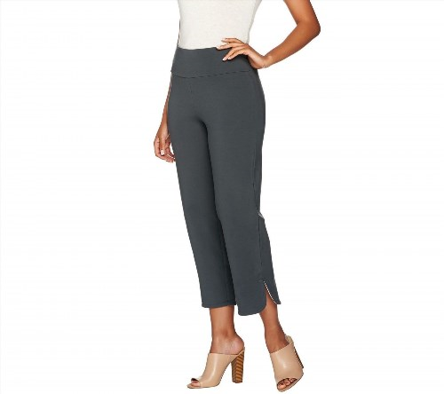 34.63$  Watch now - http://viojy.justgood.pw/vig/item.php?t=n5hly2853138 - Women with Control Tummy Cntrl Pull-On Crop Pants Side SlitSmoke L NEW A278776