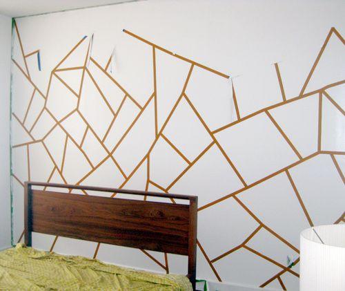How To Do Geometric Painted Wall Geometric Wall Paint Diy Wall Painting Geometric Wall