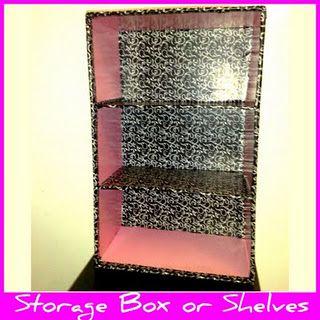 Shelves Storage From Diaper Box I M A Cheapskate Diaper Box