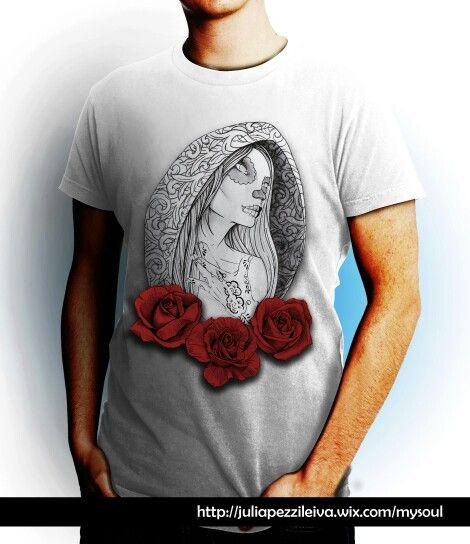 "De la firma ""niRah"" de Julia Pezzi Leiva, sale el nuevo proyecto MySoul. GirlRosesTattoo blanca hombre #Camisetas #Diseño #Tshirt #Nerja #MySoul #TattooArt #Moda #ModaMujer #ModaHombre #tshirt #Roses #CamisetasExpresivas #Originales #Original #DiseñoCamisetas #Rosas"