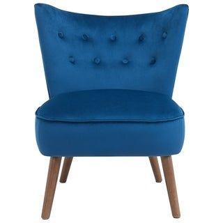Best Elle Mid Century Velvet Accent Chair Grey Gray Blue 400 x 300
