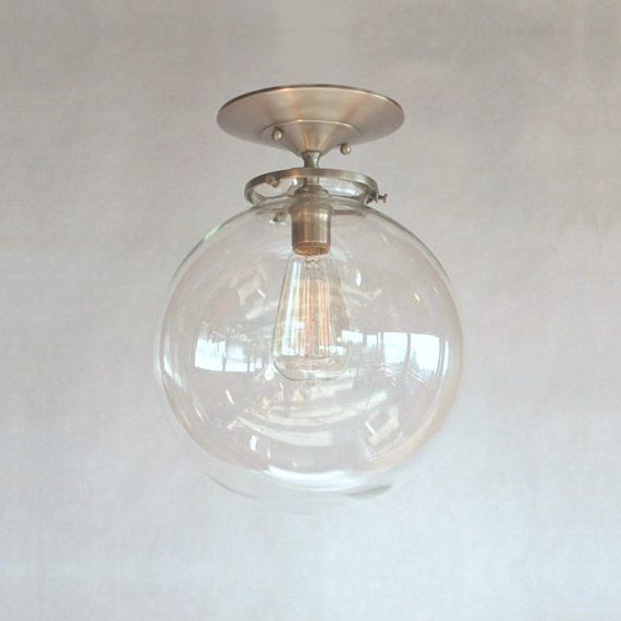 Mid Century Modern Globe Pendant Light Clear 8 by
