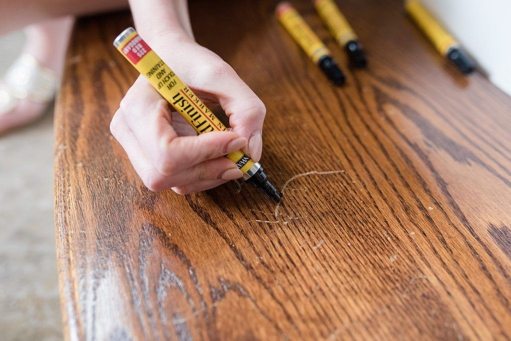 Fix wood scratches in one minute with wood touch up
