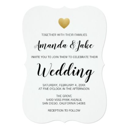 heart of gold wedding invitation pinterest