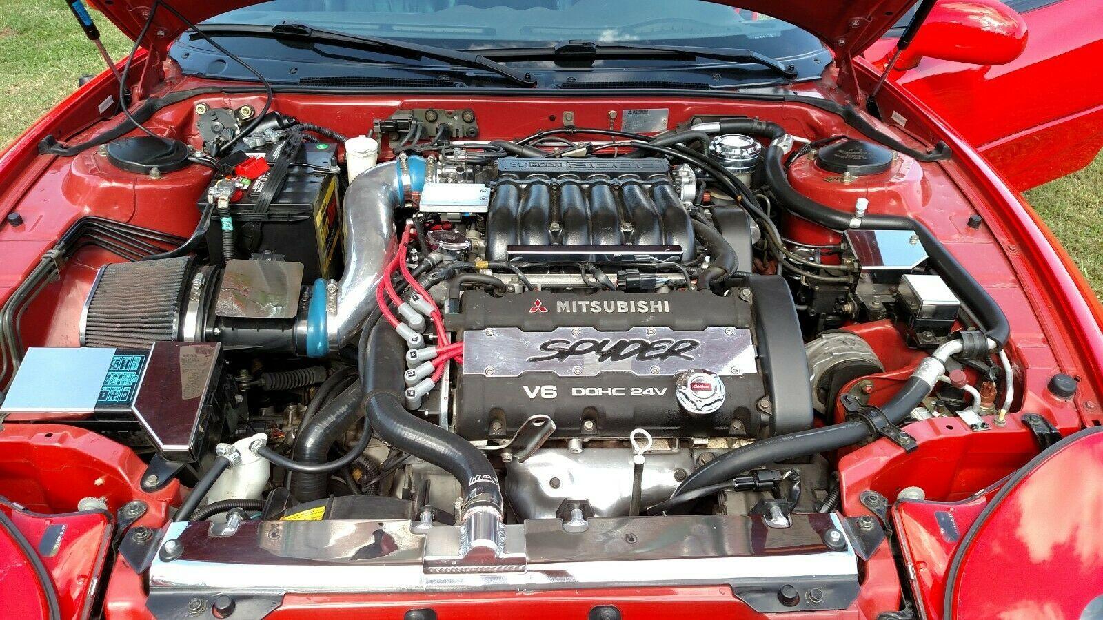 Used 1995 Mitsubishi 3000gt 1995 Mitsubishi 3000gt Sl Spyder Show Car Red Ext Black Dark Gray Interior 2020 Is In Stock And For Sale 24carshop Com Mitsubishi 3000gt Mitsubishi Dark Black