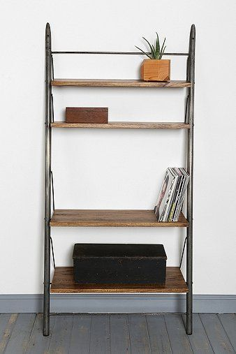 Locust Leaning Bookshelf Wall Shelf Shelves