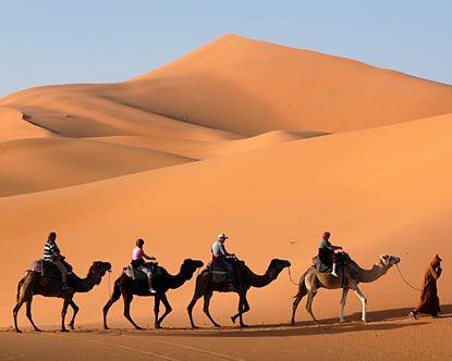 Camel ride in desert. Check!