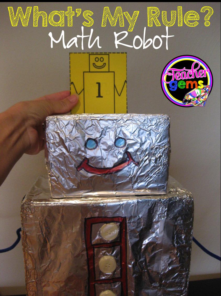 What's my Rule? Math Robot Math for kids, Math, Math night