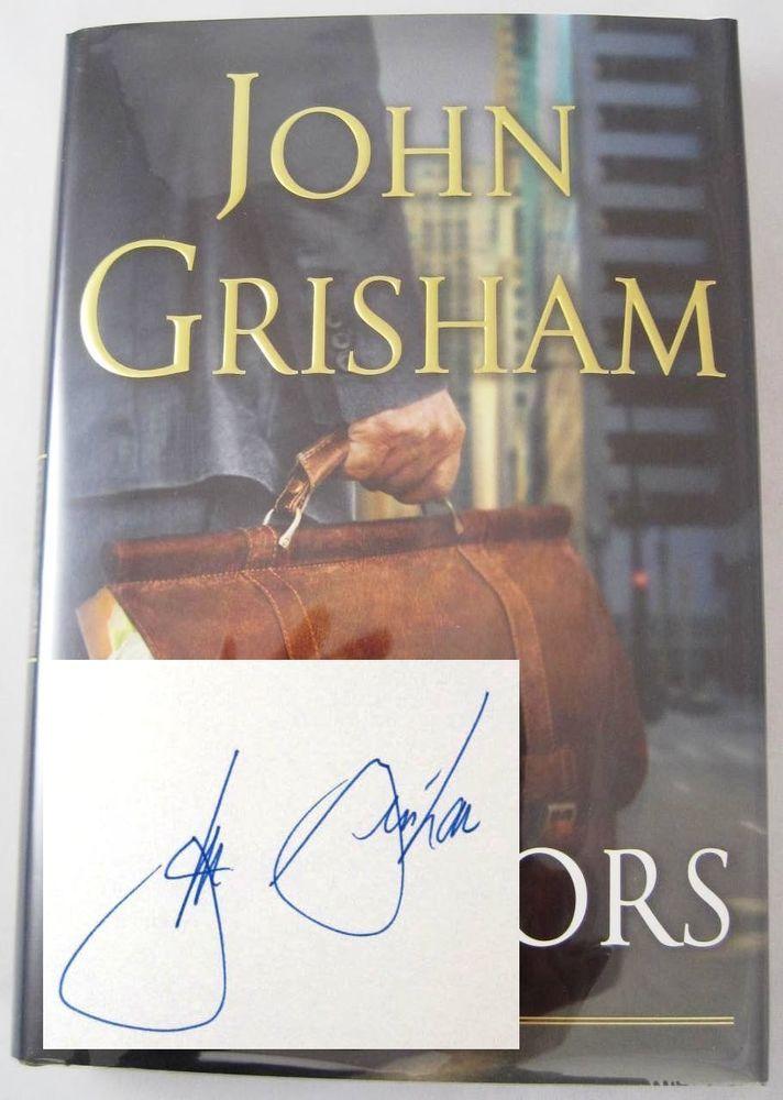 The Litigators John Grisham Hand SIGNED 1st Edition HBDJ Book AS NEW!  Available at BooksBySam.com!