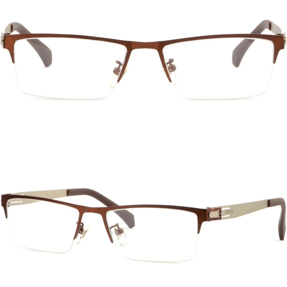 f27190196d Light Rectangular Men s Women s Titanium Alloy Frames Prescription Glasses  Brown  Unbranded