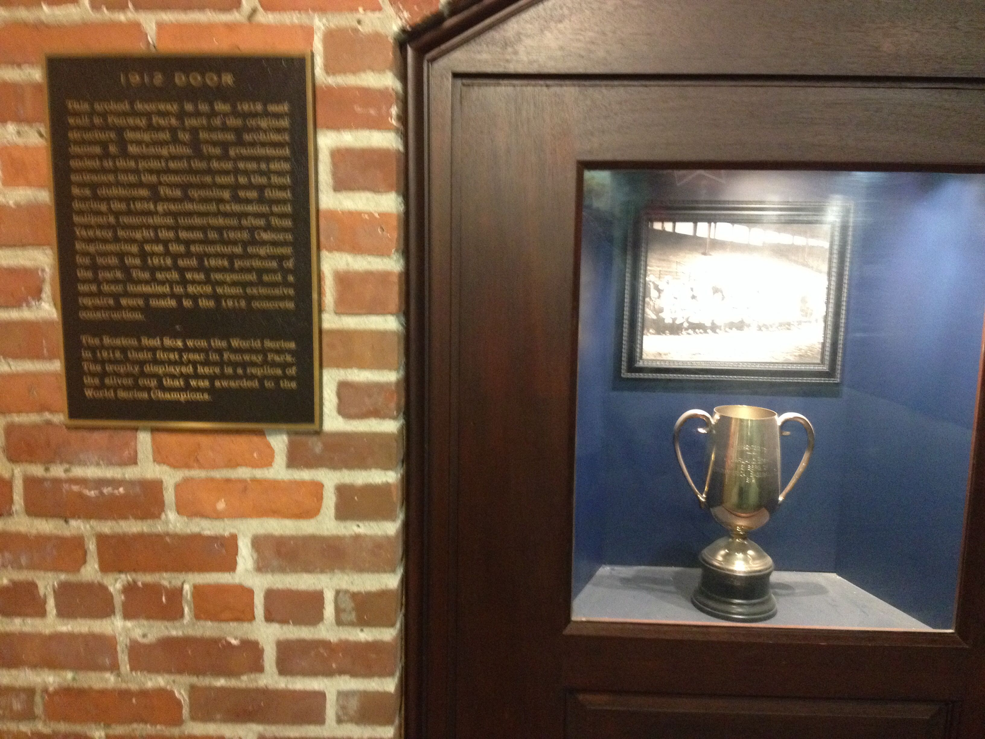 Boston Red Sox 1912 door and trophy & Boston Red Sox 1912 door and trophy | Boston sports | Pinterest ...