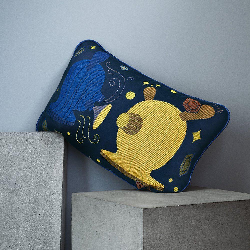 Coussin Bleu Et Jaune Cosmo Arty Pour D Corer Votre Chambre Et Votre