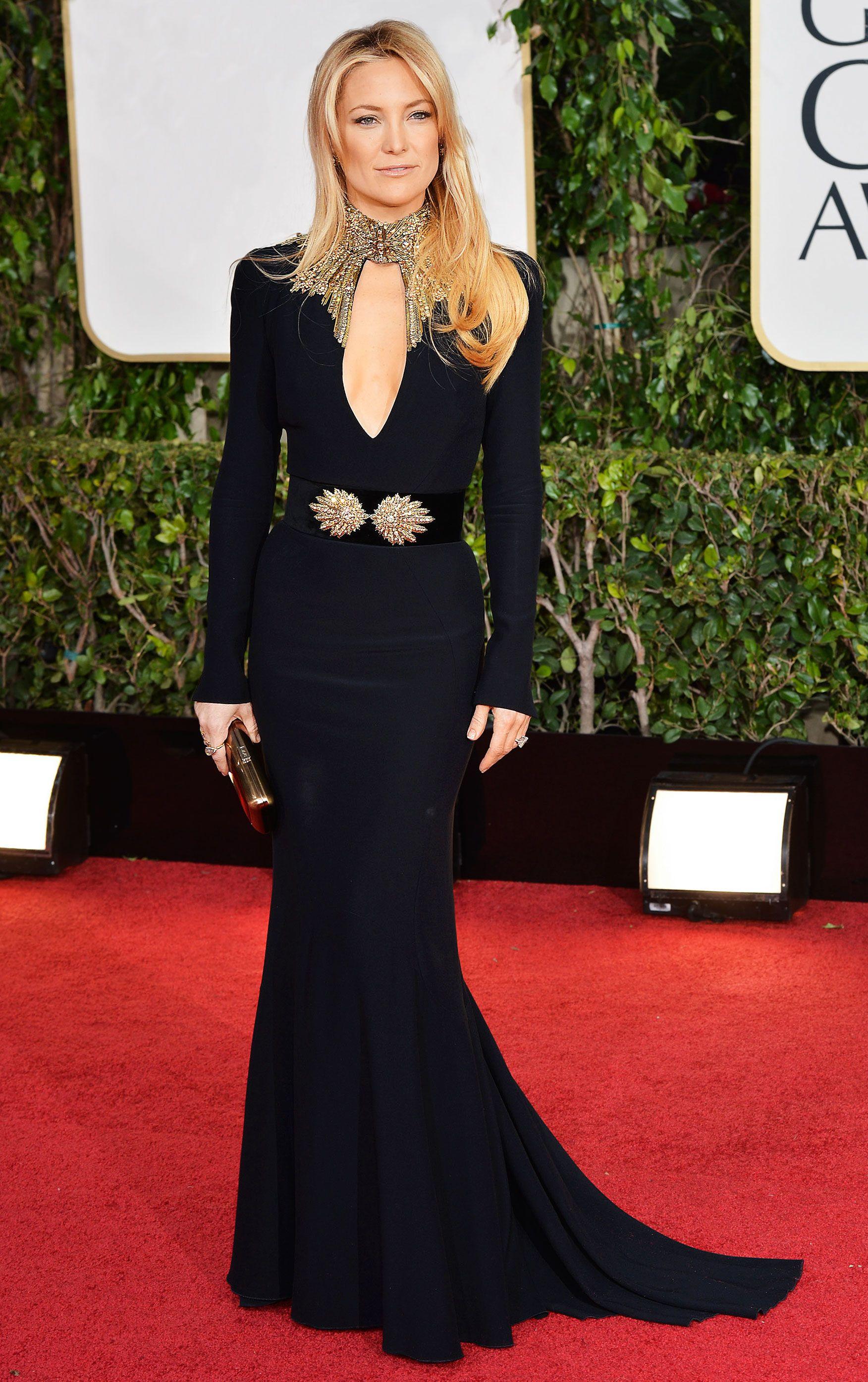 We Found Kate Hudson S 10 Best Red Carpet Looks Ever Red Carpet Dresses Black Dress Red Carpet Golden Globes Dresses [ 2789 x 1752 Pixel ]